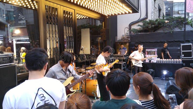 Uliczny zespół w Seul zdjęcia royalty free