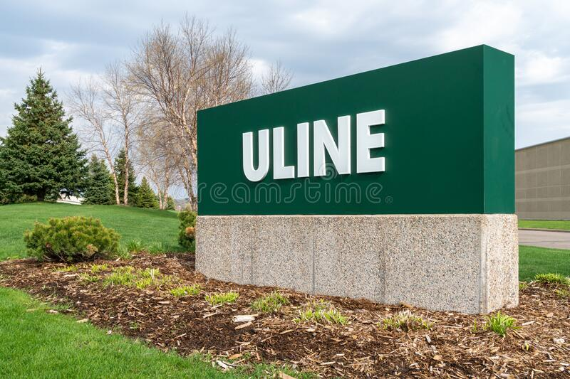 Uline Distribution Center Exterior and Trademark Logo royalty free stock photography