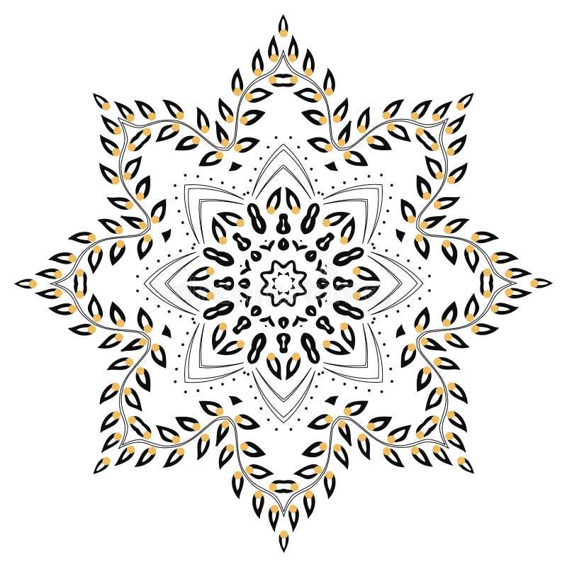 ulistnienia mandala royalty ilustracja