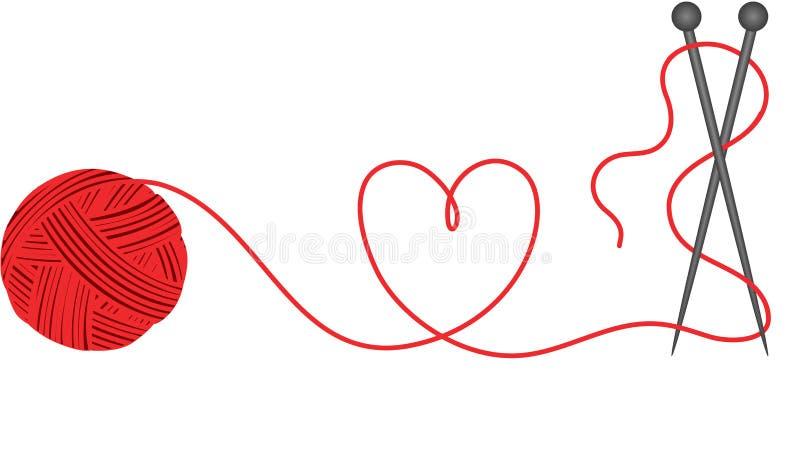 ull för hjärtahandarbeteform royaltyfri illustrationer