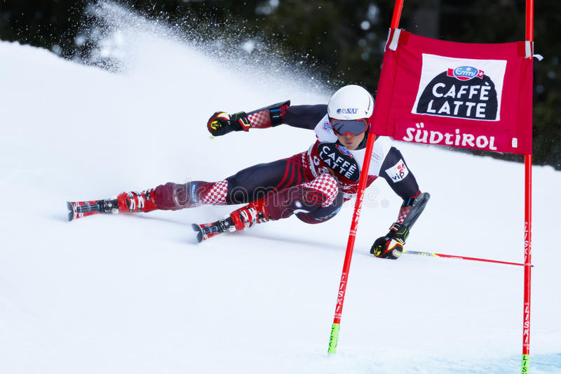 ULLRICH Max in Audi Fis Alpine Skiing World Cup. Alta Badia, Italy 20 December 2015. ULLRICH Max (Cro) competing in the Audi Fis Alpine Skiing World Cup Men stock image