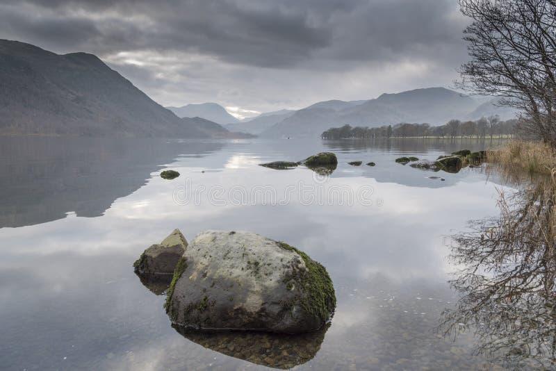 Ullswater英国湖区Cumbria 库存图片