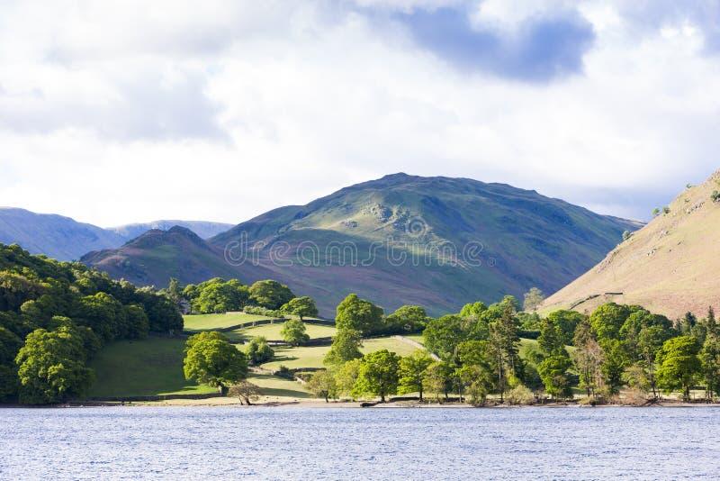 Ullswater, distretto del lago, Cumbria, Inghilterra immagini stock libere da diritti