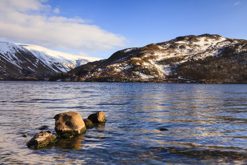 Ullswater sjösikt royaltyfria bilder