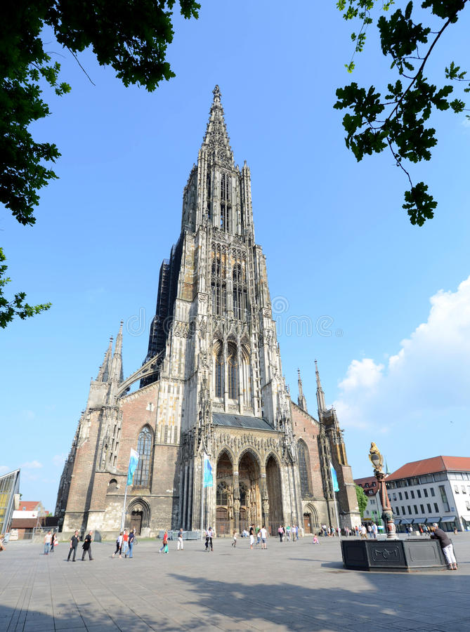 Download Ulm Munster editorial photo. Image of square, clouds - 25172366