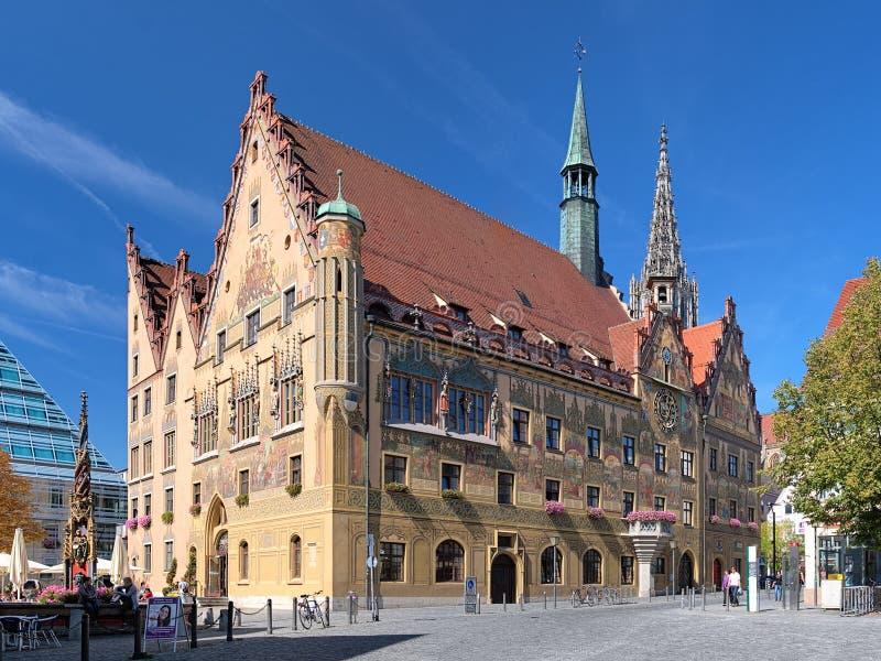 Ulm Rathaus, Deutschland stockfotografie