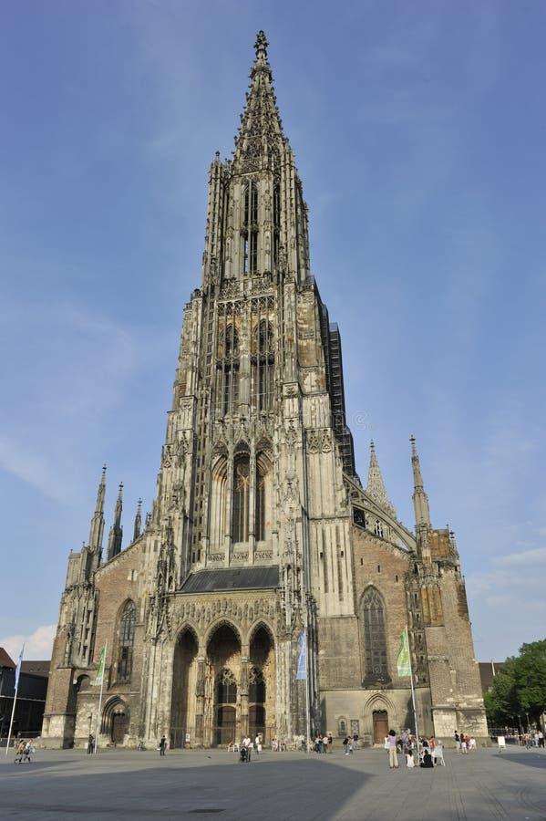 Ulmer Munster (igreja do =Ulm) imagens de stock royalty free