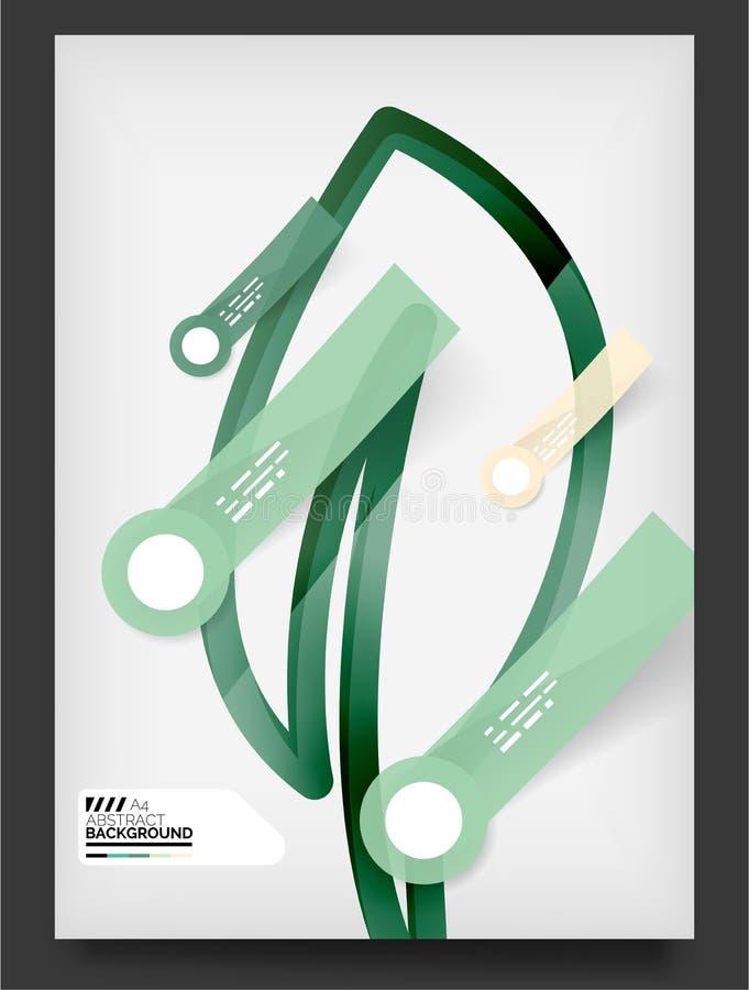 Ulotka, broszurka projekta szablon ilustracji