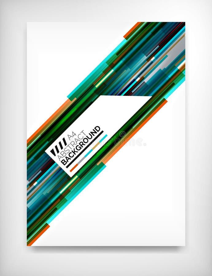 Ulotka, broszurka projekta szablon, układ ilustracja wektor