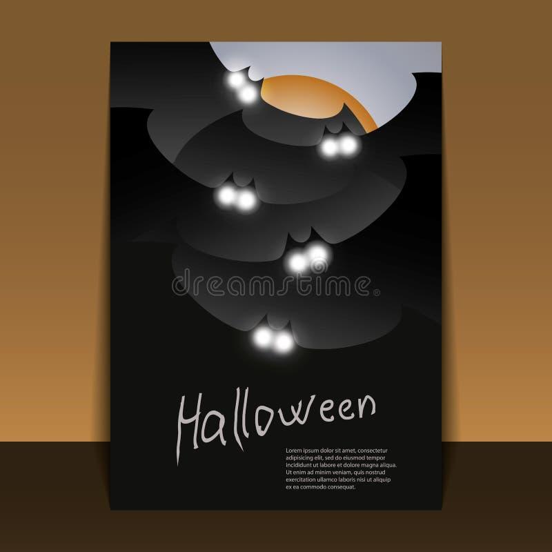 Ulotka lub Pokrywy halloweenowy Projekt royalty ilustracja