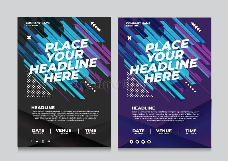 Ulotka projekt bawi si? zaproszenie szablon Może być adaptuje broszurka, sprawozdanie roczne, magazyn, plakata wektor royalty ilustracja