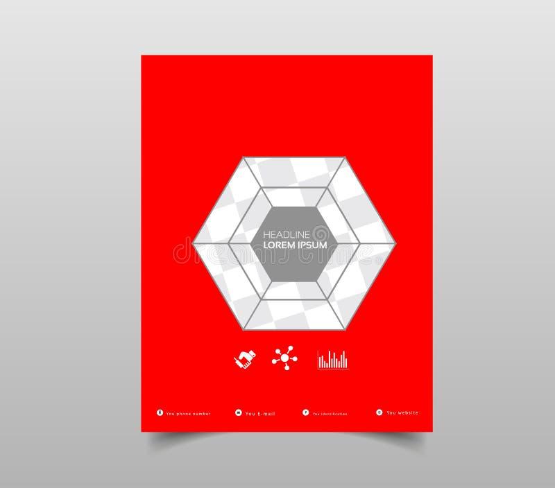 Ulotka Projekt Biznesowy broszurka szablon Sprawozdanie roczne pokrywa B ilustracja wektor