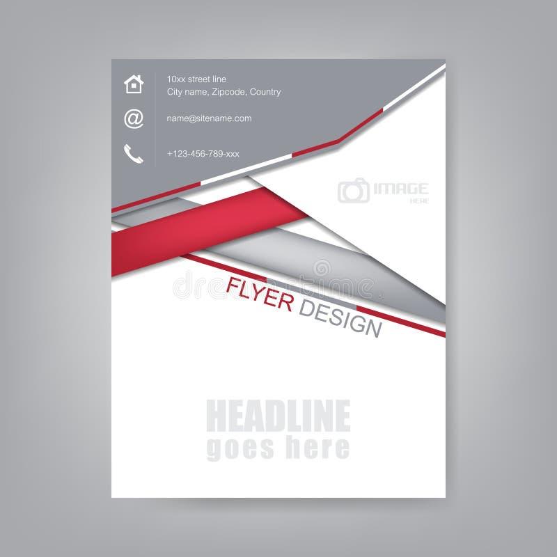 Ulotka projekt, broszurka szablon lub korporacyjny sztandar, ilustracji