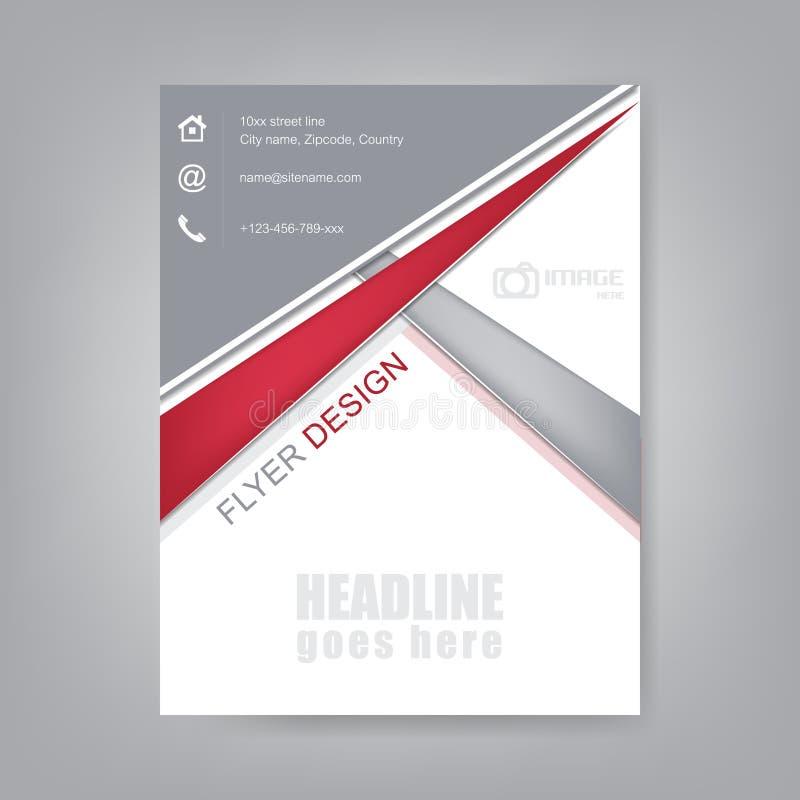 Ulotka projekt, broszurka szablon lub korporacyjny sztandar, ilustracja wektor