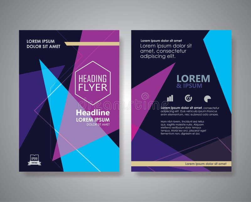 Ulotka projekta układu trójboka kształta broszurki plakata Abstrakcjonistyczny vect ilustracja wektor