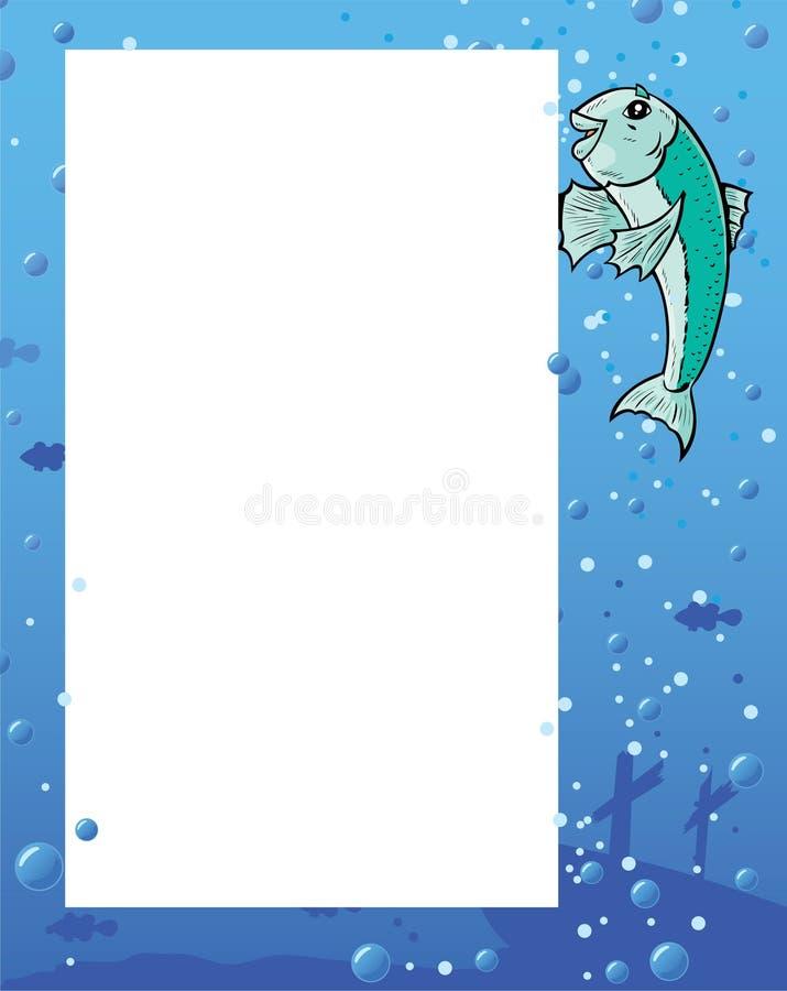 ulotka rybi seans ilustracja wektor