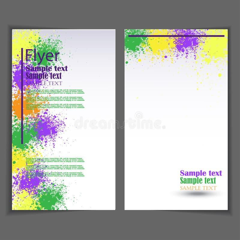 Ulotka szablon Biznesowa broszurka dla projekta royalty ilustracja