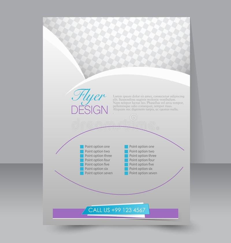 Ulotka szablon Biznesowa broszurka Editable A4 plakat ilustracji