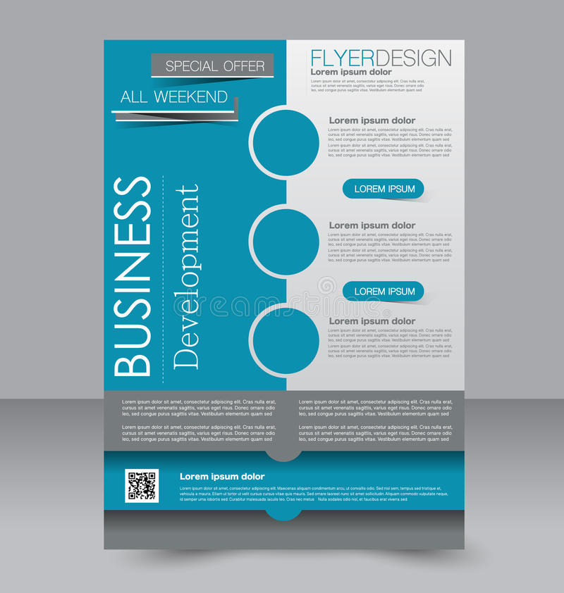 Ulotka szablon Broszurka projekt A4 biznesu pokrywa ilustracja wektor
