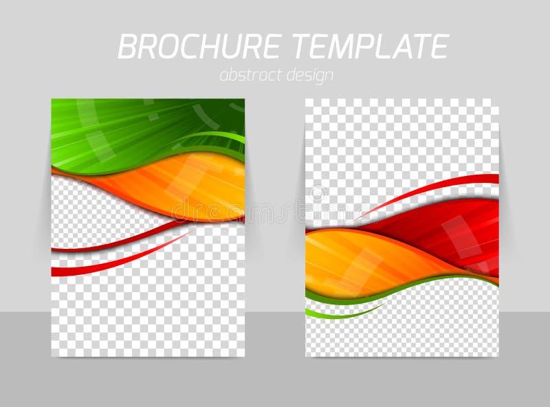 Ulotka szablonu plecy i przodu projekt ilustracja wektor