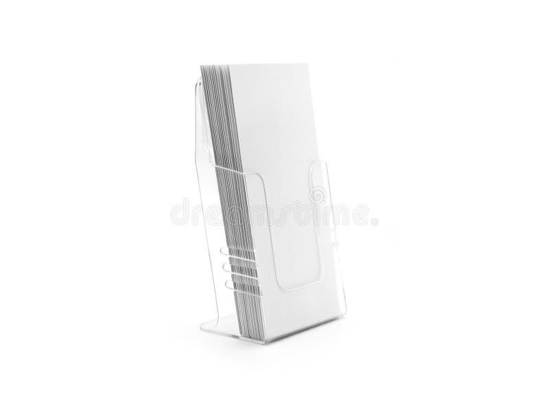 Ulotka szklany plastikowy właściciel obrazy stock