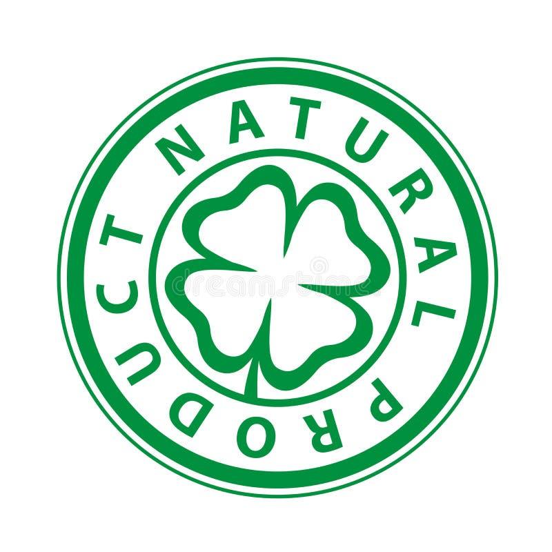 Mark Drukować naturalny produkt ilustracja wektor