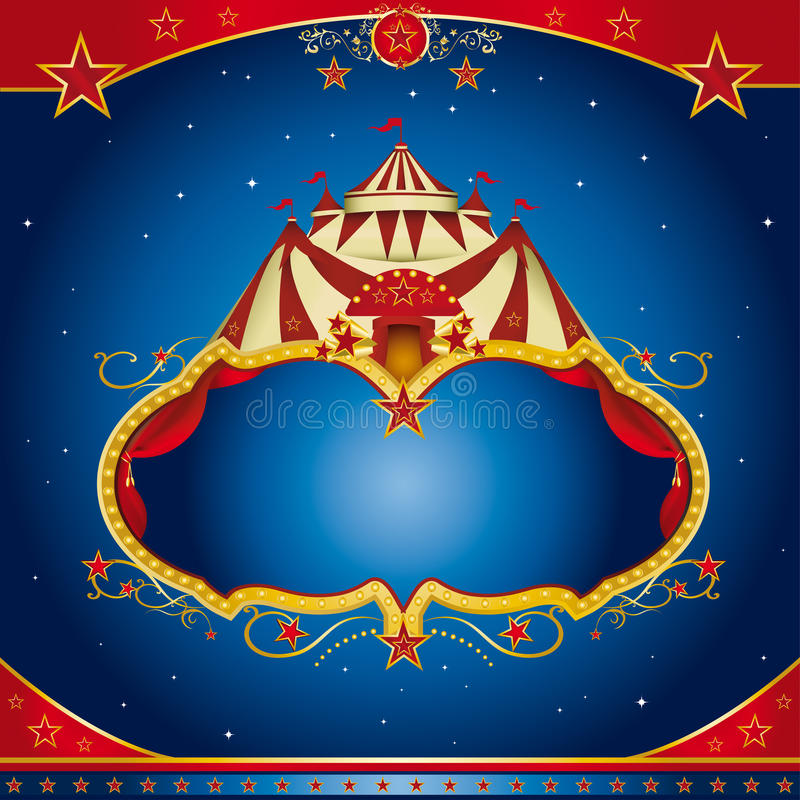 ulotki cyrkowa magia royalty ilustracja