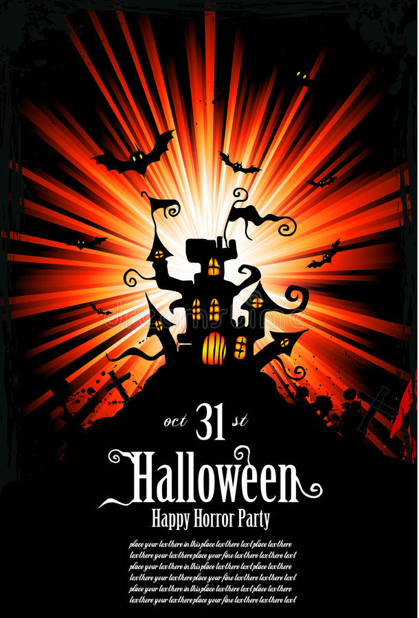 ulotki grunge Halloween stylowy sugestywny ilustracja wektor