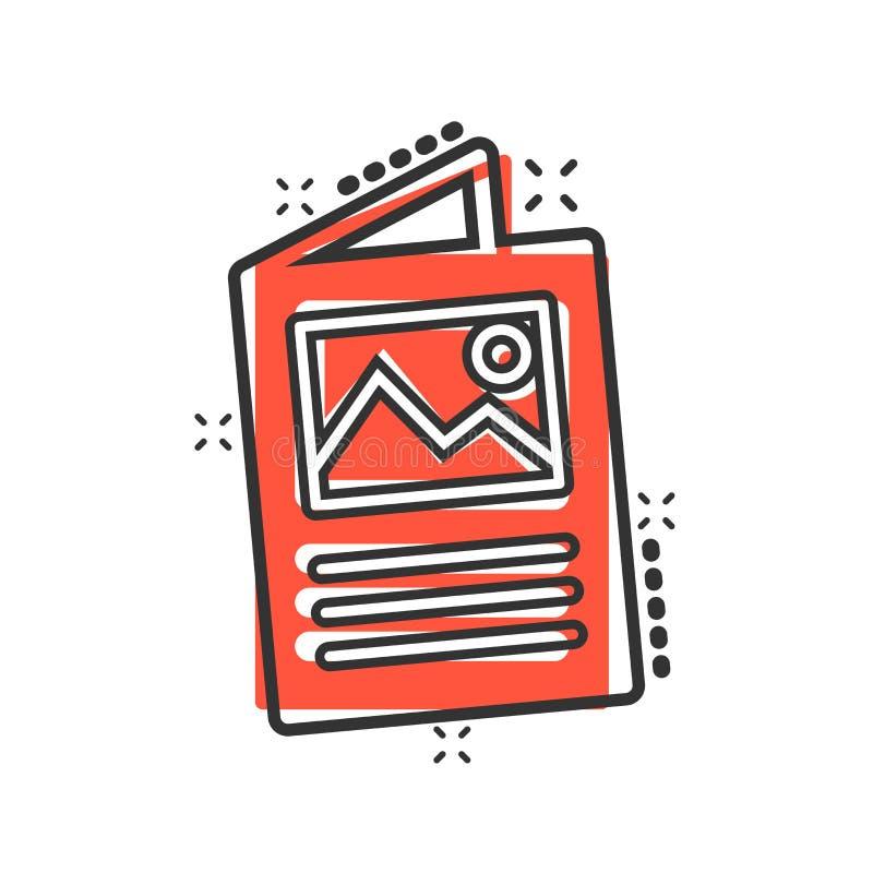 Ulotki ulotki ikona w komiczka stylu Broszurki kreskówki ilustracji szkotowy wektorowy piktogram Broszury ulotki pojęcia biznesow royalty ilustracja