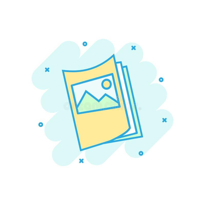 Ulotki ulotki ikona w komiczka stylu Broszurki kreskówki ilustracji szkotowy wektorowy piktogram Broszury ulotki pojęcia biznesow ilustracji