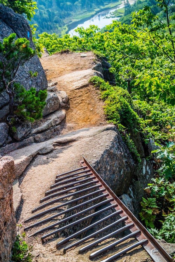 Ulowy faleza ślad w Acadia parku narodowym, Maine zdjęcia royalty free