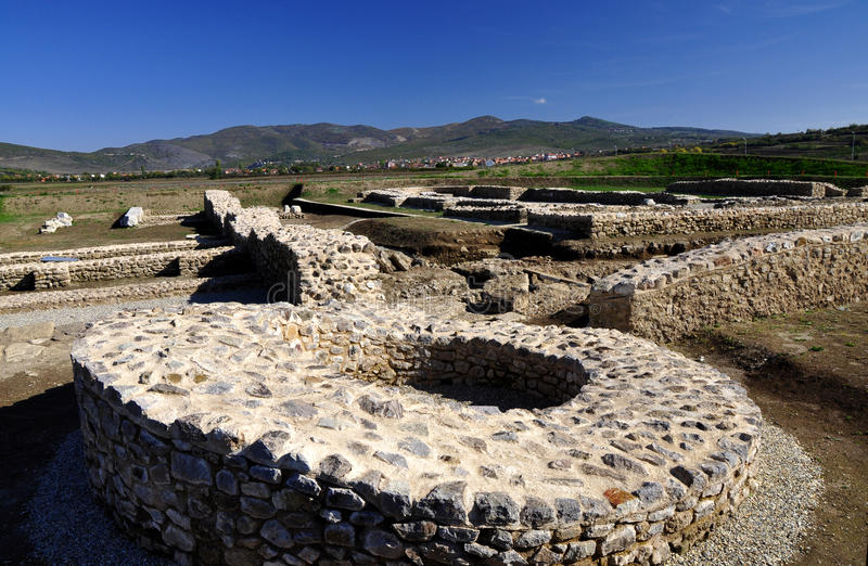 Ulpiana city. Ulpiana was an ancient Roman city in Kosovo stock photography