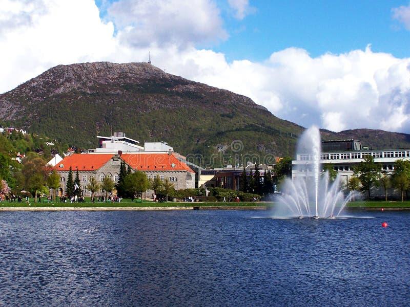 Download Ulriken 1 stock photo. Image of lille, fountain, mountain - 169192
