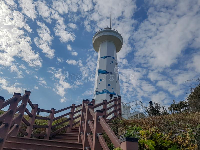 On the way to Seuldo Lighthouse in Ulsan, South Korea royalty free stock images