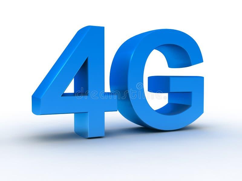 ultima comunicazione senza fili 4G illustrazione di stock