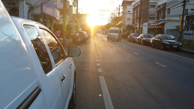 Ultima luce a Phuket Tailandia immagine stock libera da diritti