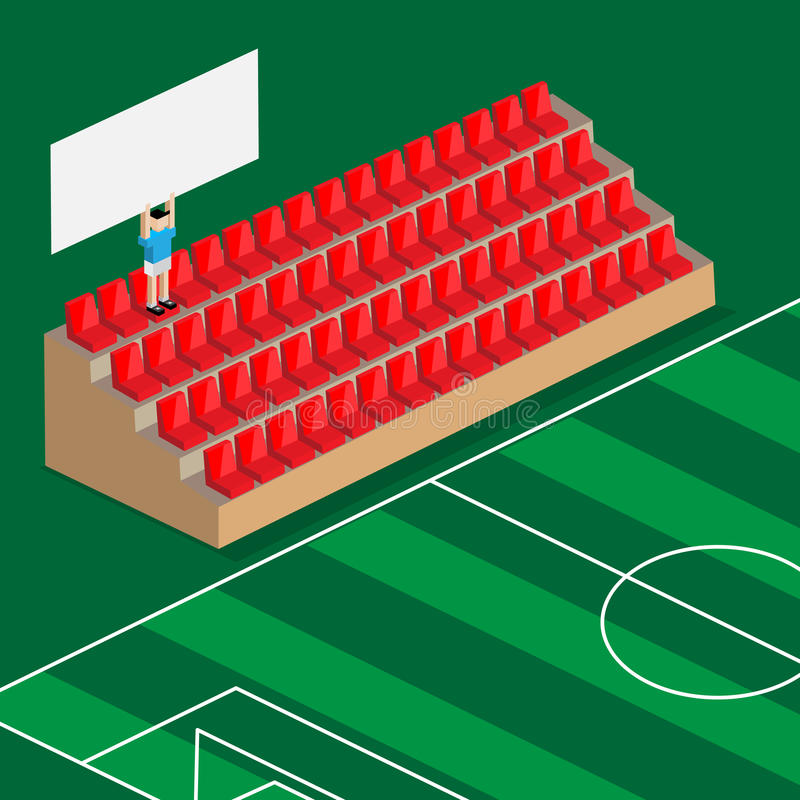 Ultima tenuta del sostenitore l'insegna in stadio di football americano royalty illustrazione gratis