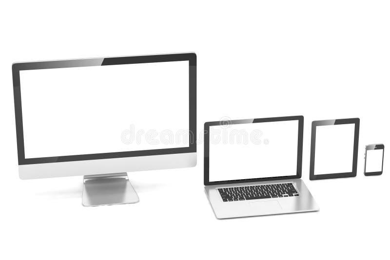 Ultimat rengöringsdukdesign, bärbar dator, smartphone, minnestavla royaltyfria bilder