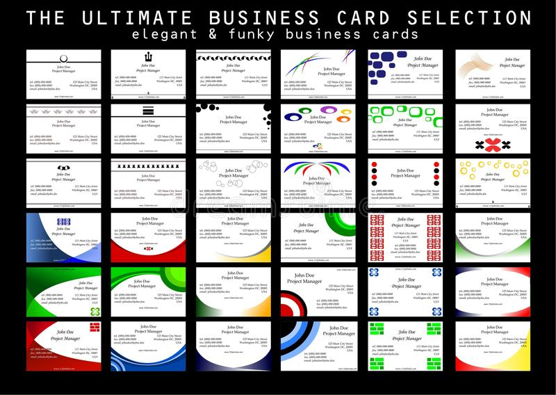 Download The Ultimate Business Card Selection Stock Vector - Image: 9678985