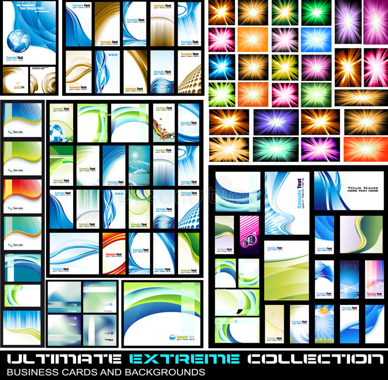 Ultimate Extreme Collection of business cards royalty free illustration