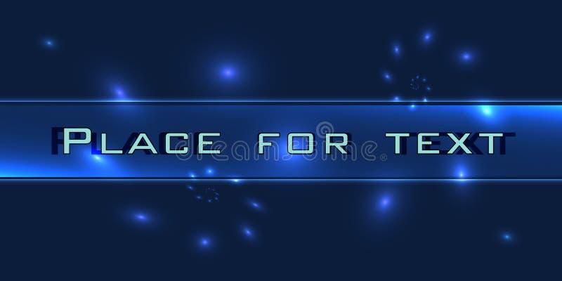 Ultime notizie Live Banner sulle linee ondulate d'ardore fondo Fondo di notizie di tecnologia di affari Illustrazione di vettore illustrazione di stock