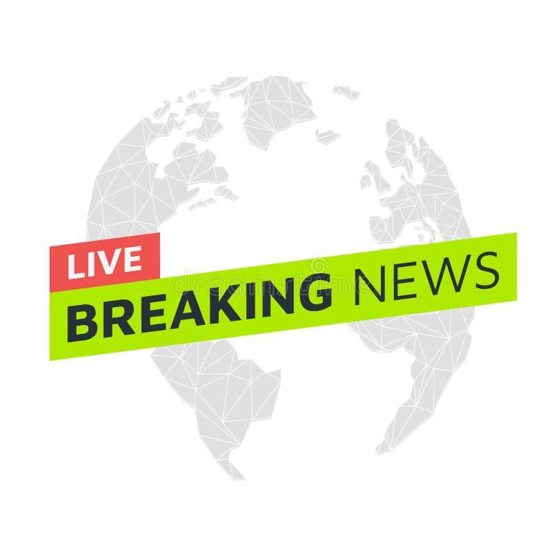 Ultime notizie live Del globo poli triangolare in basso fotografia stock libera da diritti