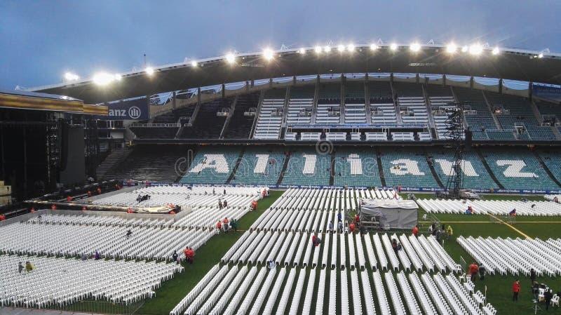 Ultimo concerto allo stadio dell'Allianz fotografia stock