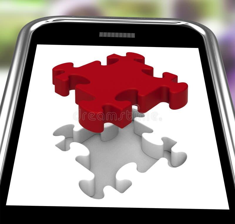 Ultimo pezzo su Smartphone che mostra completamento illustrazione vettoriale