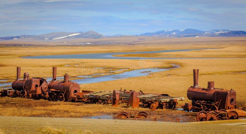 Ultimo treno a nessuna parte in Solomon, Ak fotografia stock libera da diritti