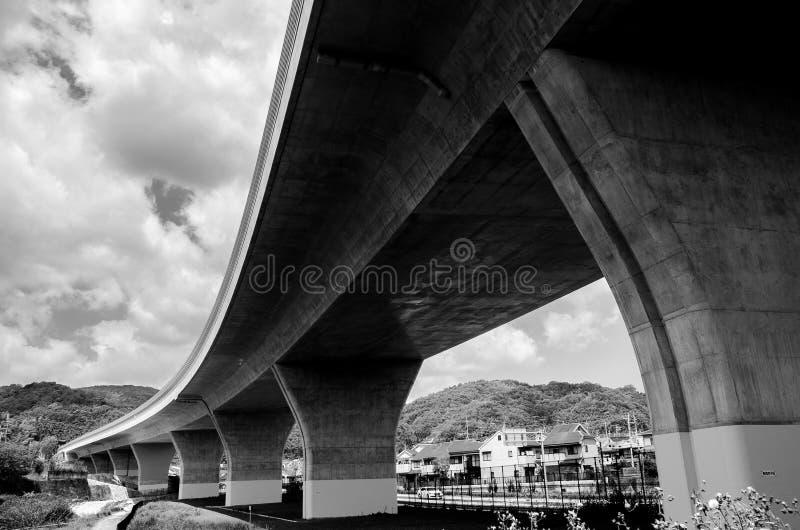 Ultra brede hoek van brug royalty-vrije stock foto's