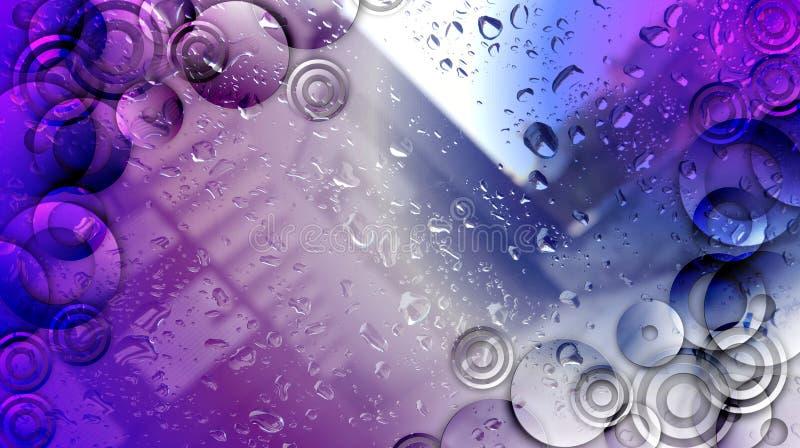Ultra fundo moderno de Violet Bright ilustração stock