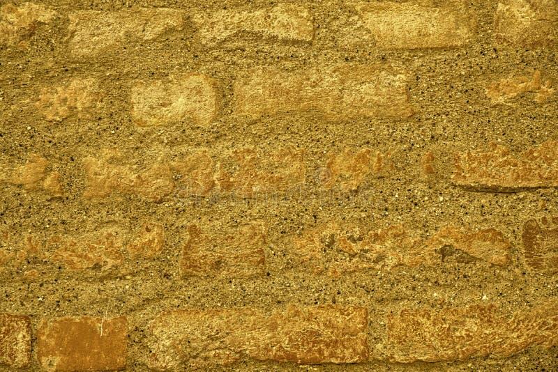 Ultra gele bakstenen muurtextuur, cementachtergrond voor website of mobiele apparaten royalty-vrije stock afbeeldingen