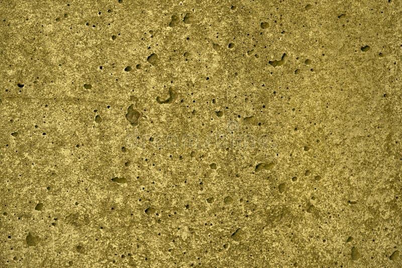 Ultra gele Concrete cementtextuur, steenoppervlakte, rotsachtergrond royalty-vrije stock foto