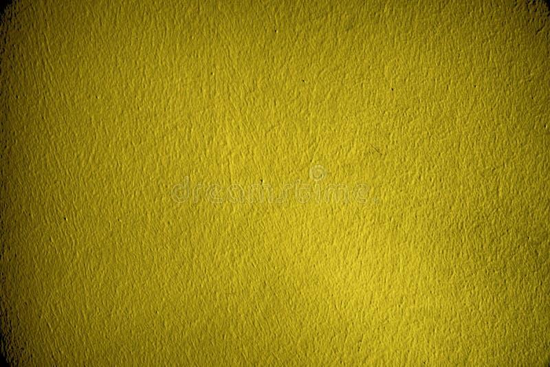 Ultra gele Pleisteroppervlakte of gipspleistermuur - binnen achtergrond royalty-vrije stock afbeelding